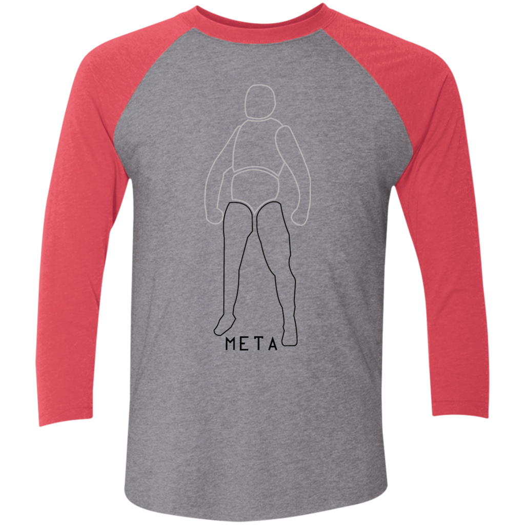 KUK Next Level Tri-Blend 3/4 Sleeve Baseball Raglan T-Shirt