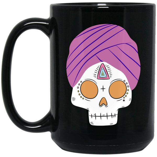 01---MEXICAN-TURBAN Hanan Beauty 15 oz. Black Mug