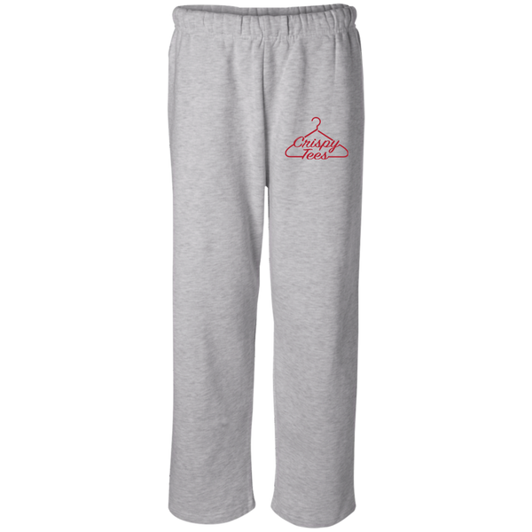 CrispyTees Open Bottom Sweatpant with Pockets