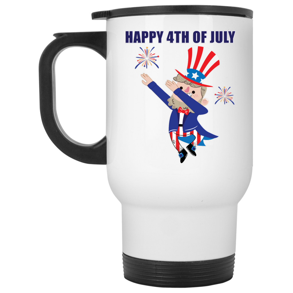 Happy 4th of July Travel Mug