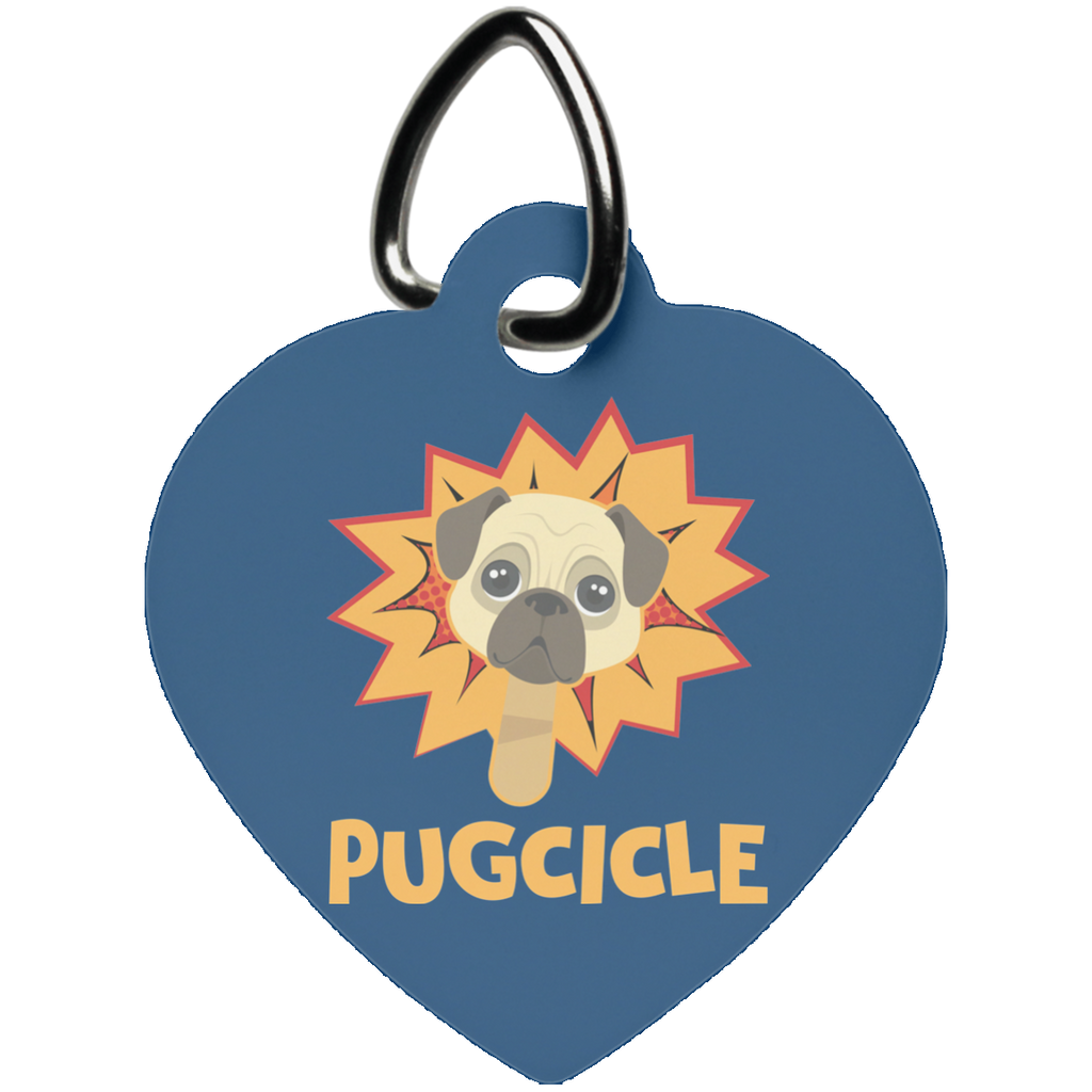 Pug Heart Pet Tag