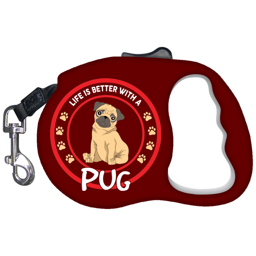 Pug Retractable Dog Leash