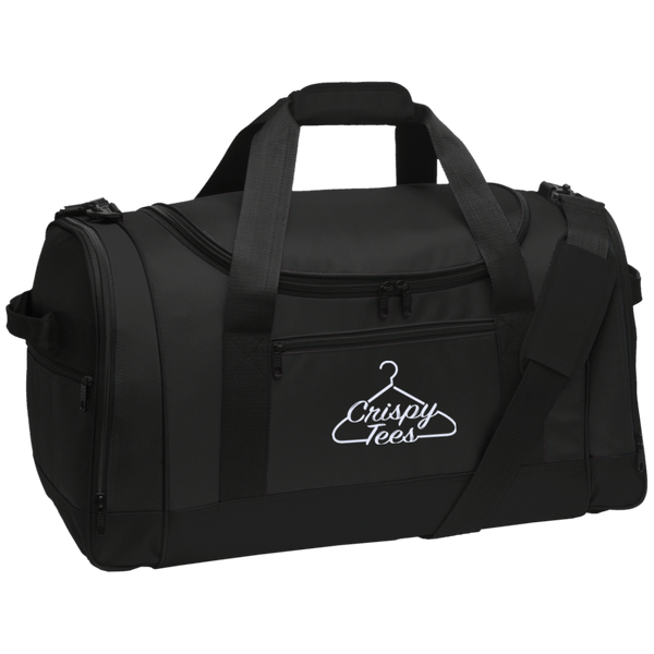 CrispyTees Embroidered Travel Sports Duffel