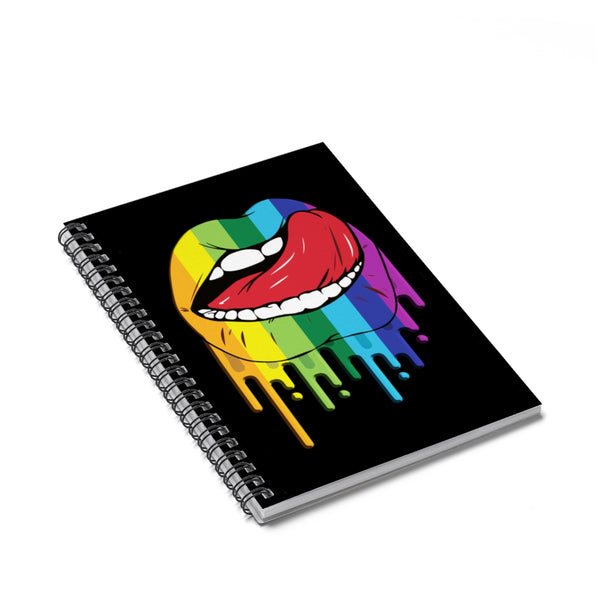 Rainbow Lips Spiral Notebook