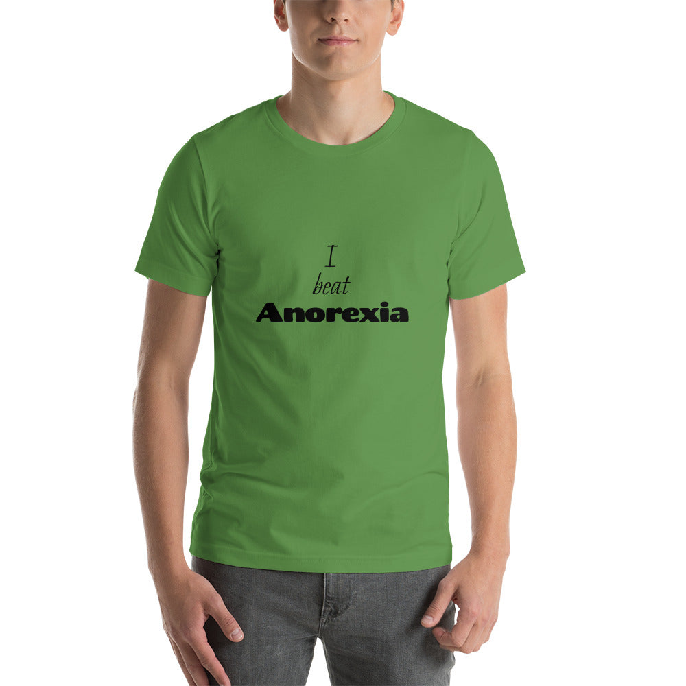 I beat Anorexia - Funny Shirts