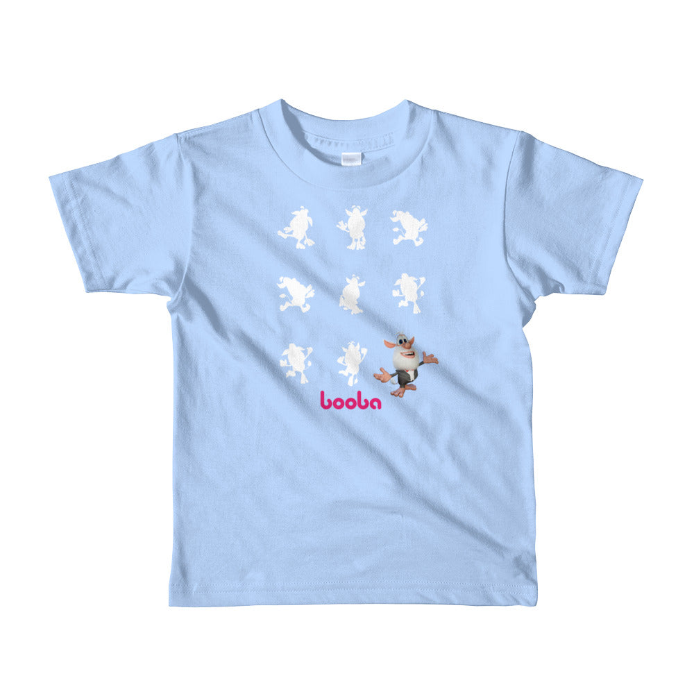 Booba Silouette Short sleeve kids t-shirt - Official Booba Apparel