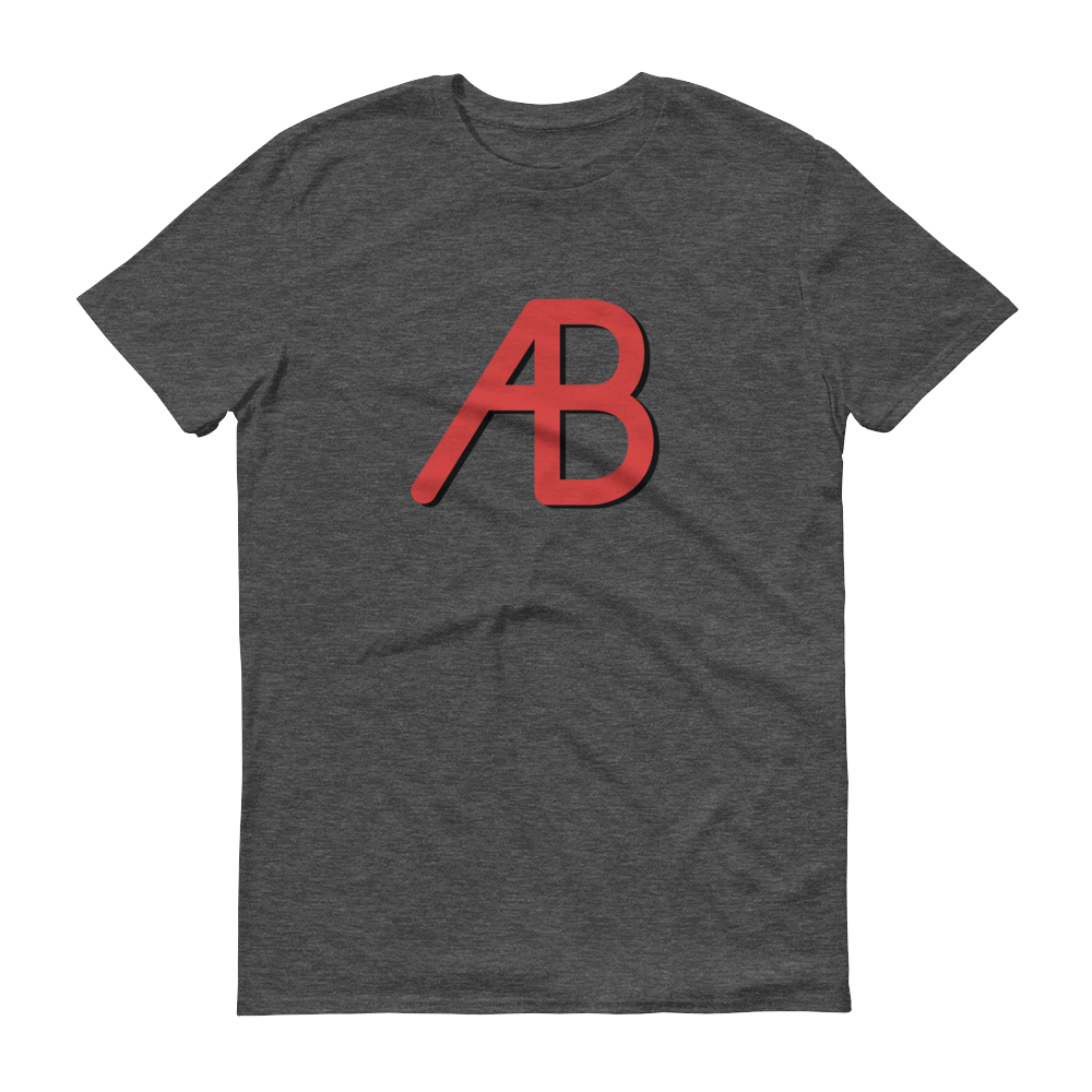 AB - Red/Black Logo - Short-Sleeve T-Shirt