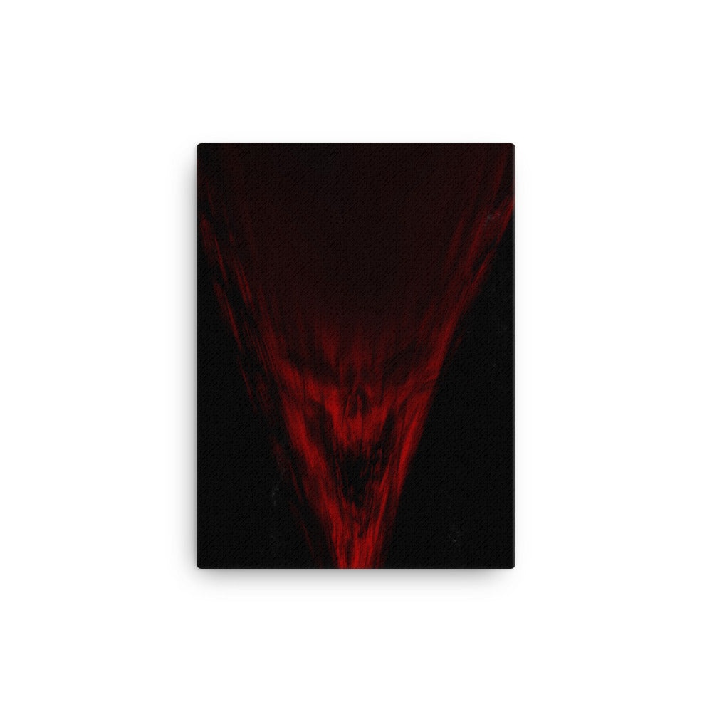 Rage Red Skull Canvas Print