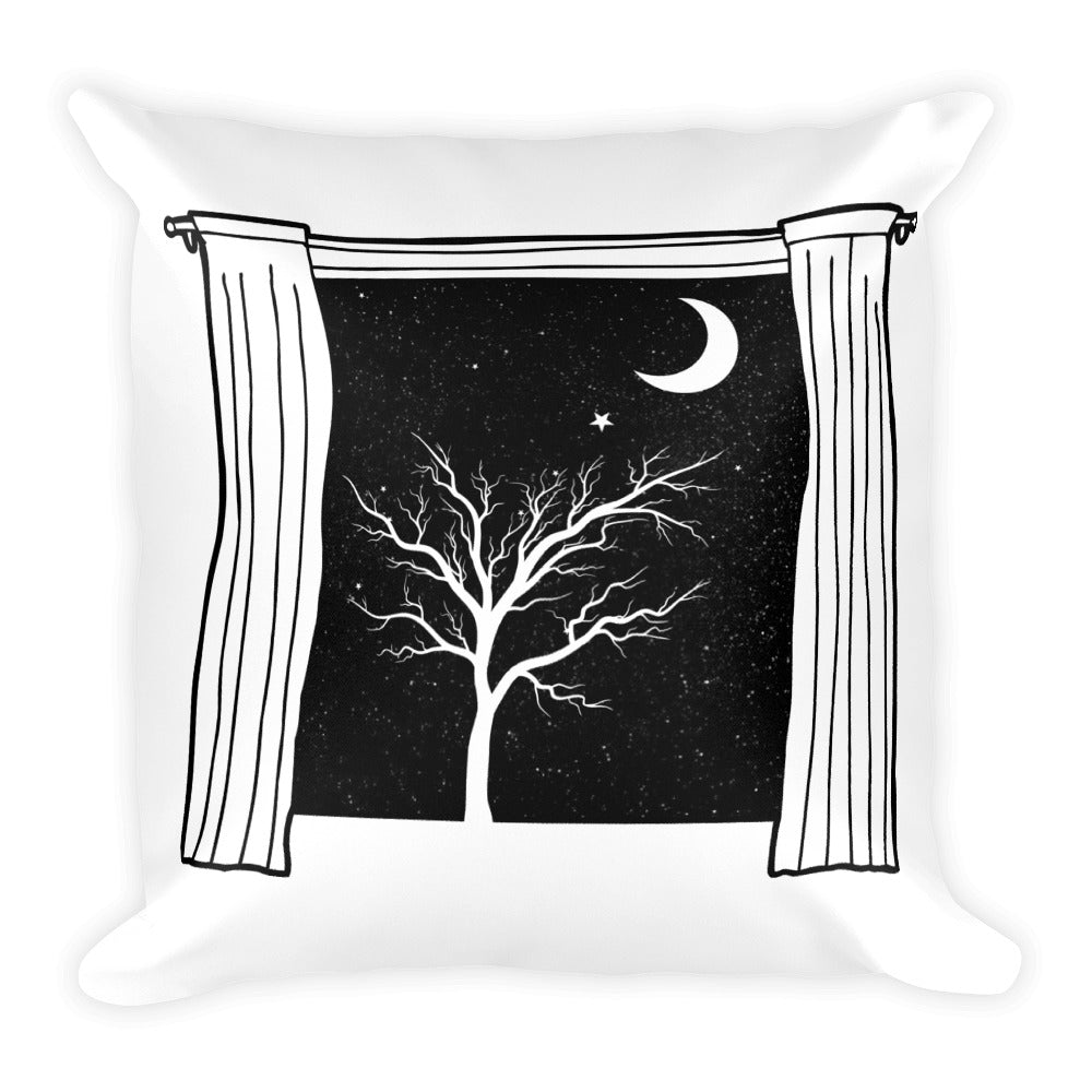 Starry Starry Night Square Pillow by PJ Dreams