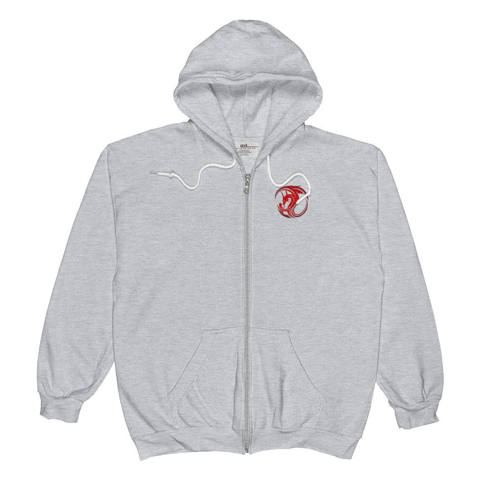 Zip Hoodie - Red Dragon