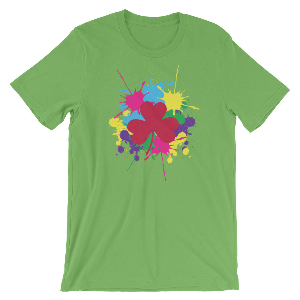 Pink Clover Paint Splat T-Shirt by Diver+