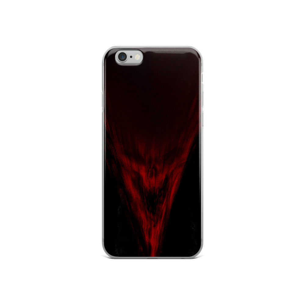 Rage Red Skull iPhone Case by Sycra