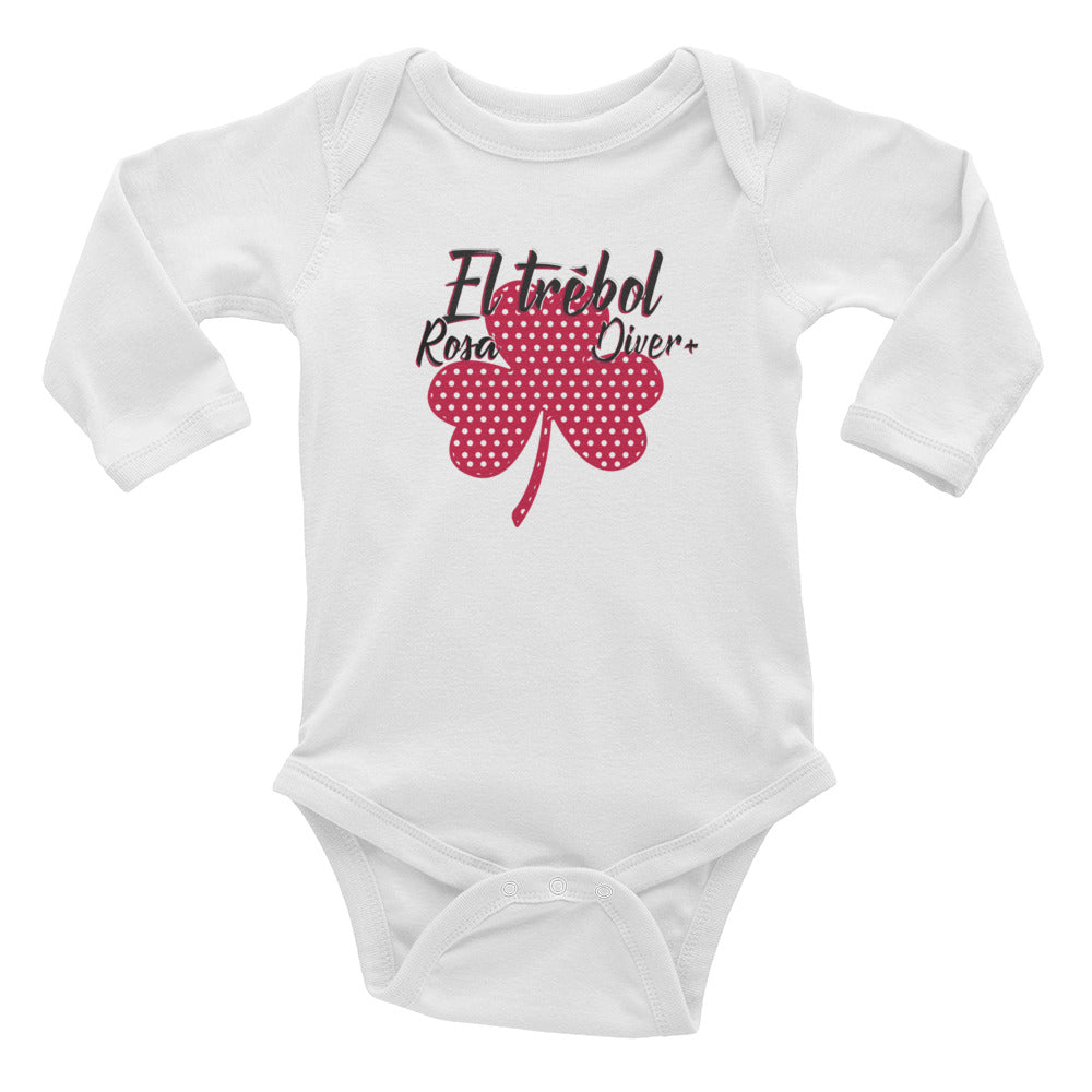 El Trébol Rosa Diver+ Infant Long Sleeve Bodysuit