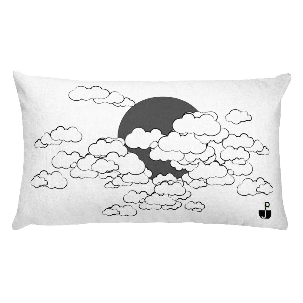 PJ Dreams Dark & Bright Clouds Rectangular Pillow