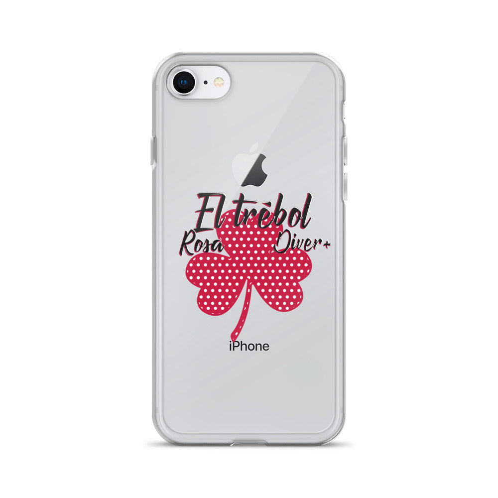 El Trébol Rosa Diver+ iPhone Case