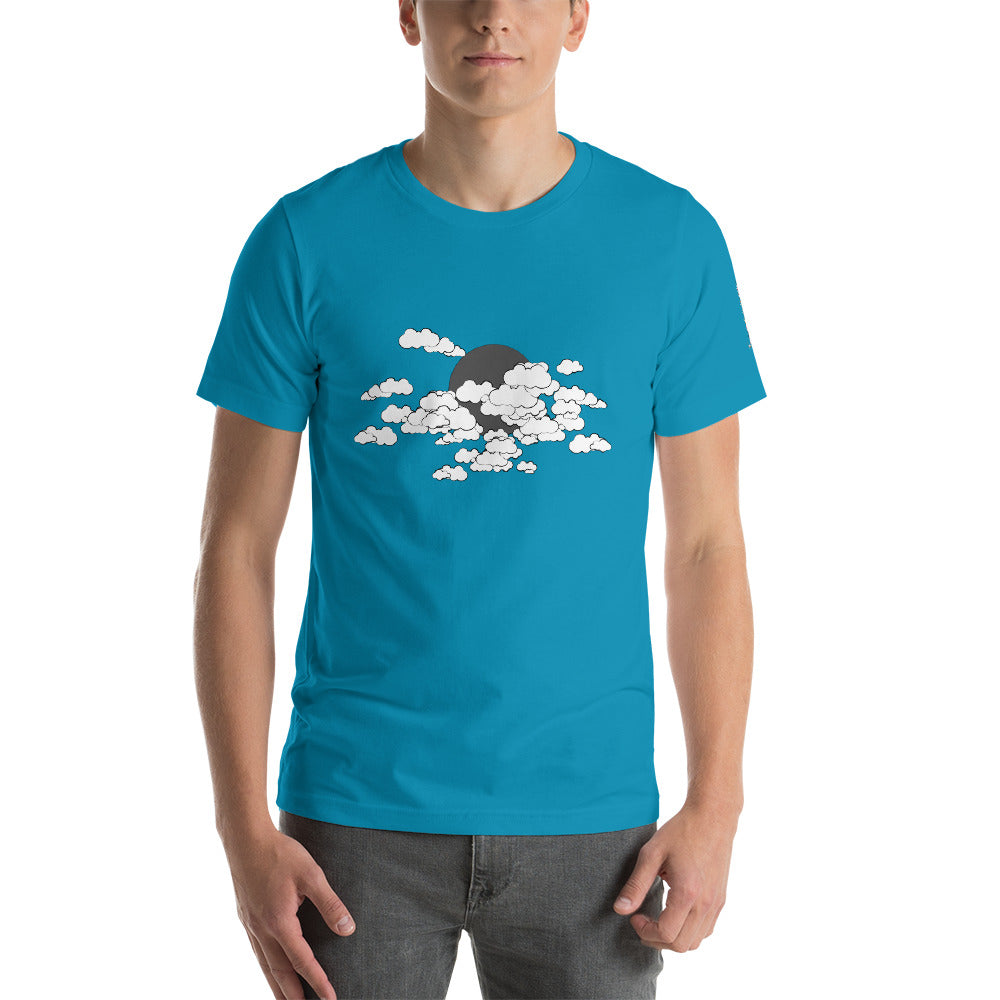 Bright Clouds Unisex T-Shirt by PJ Dreams