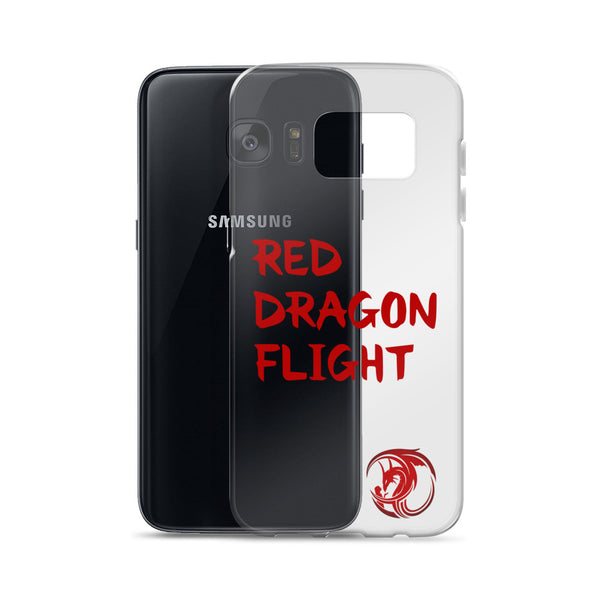 Red Dragon Flight Samsung Cases by Alliestrasza