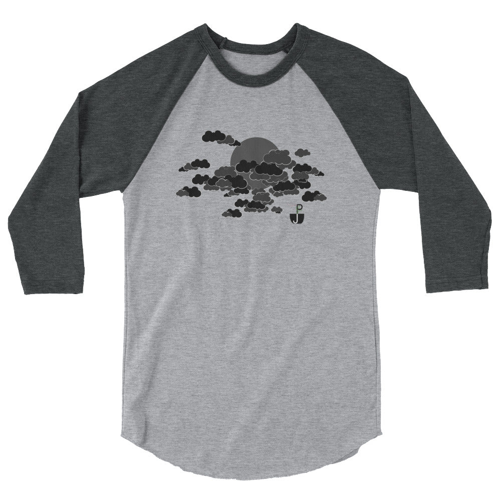 PJ Dreams Dark Clouds 3/4 Sleeve Raglan Shirt