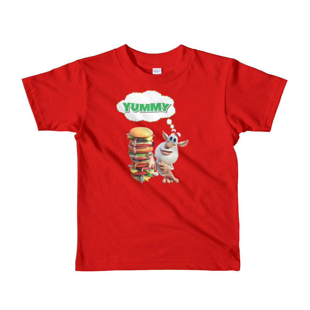 Booba Yummy Burger Toddler Shirt - Official Booba Apparel
