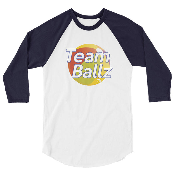 Team Ballz 3/4 Sleeve Raglan Shirt