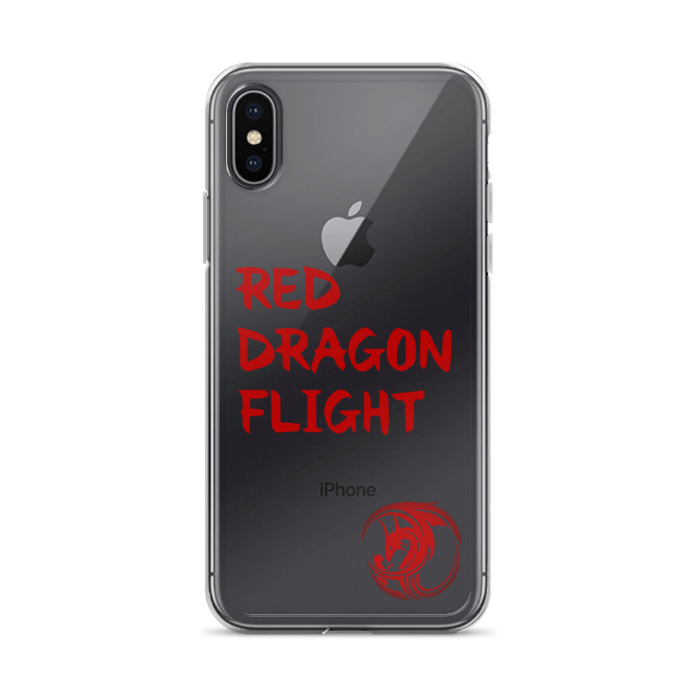 Red Dragon Flight iPhone Cases by Alliestrasza