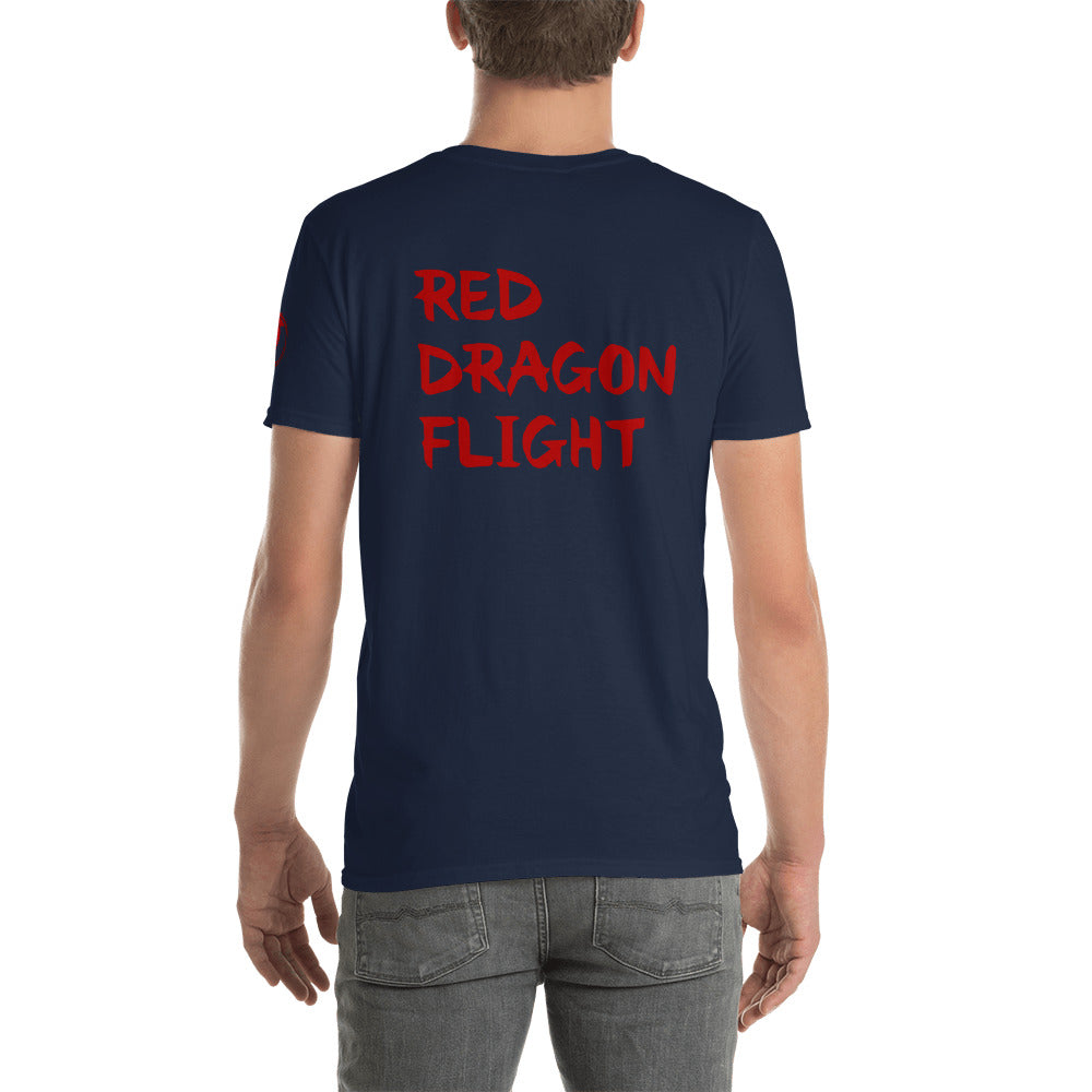 Red Dragon Flight Tee by Alliestrasza