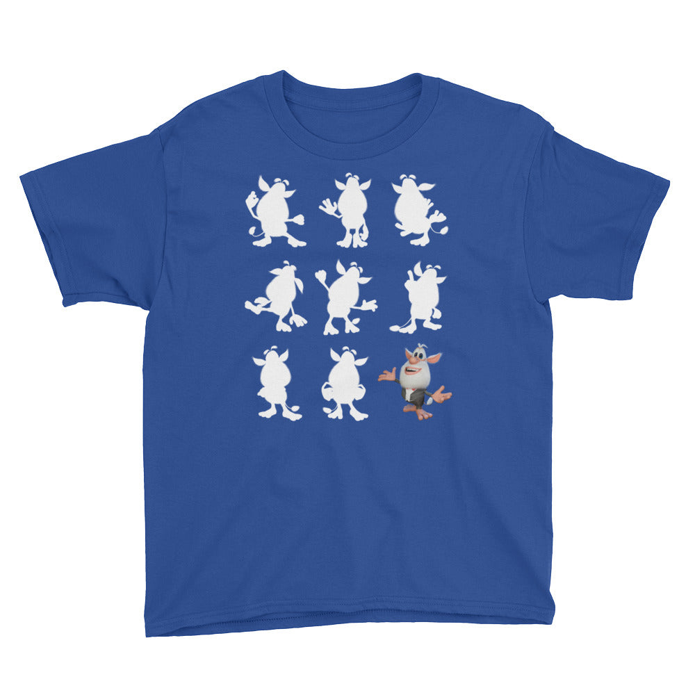 Booba Silouette Youth Short Sleeve T-Shirt - official Booba Apparel