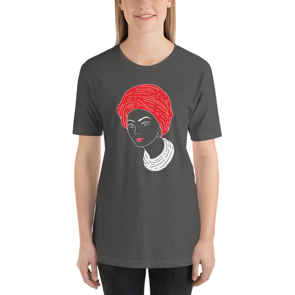 Woman with Turban Tee (unisex) by Hanan Beauty