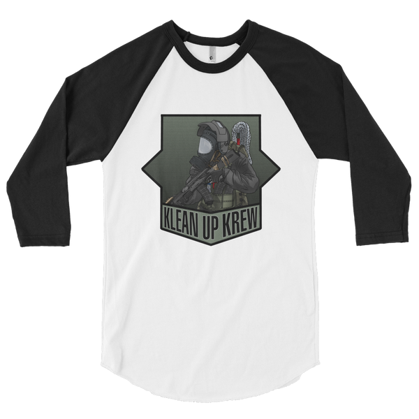 Klean Up Krew 3/4 sleeve raglan shirt