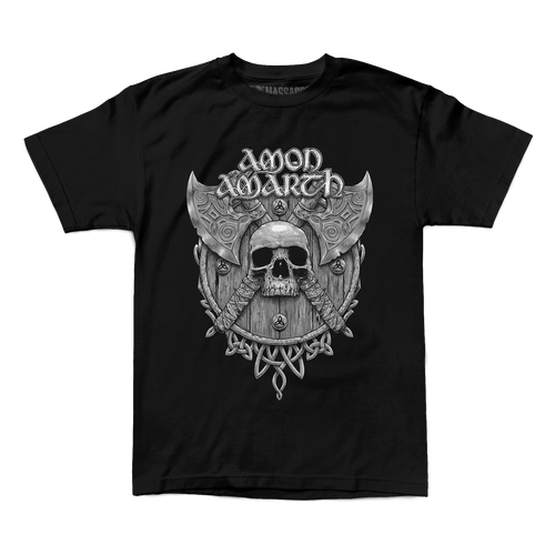 "Buy – Amon Amarth ""Grey Skull"" Shirt – Band & Music Merch – Massacre Merch"