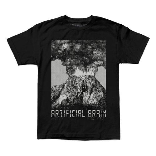 "Buy – Artificial Brain ""Ash Eclipse"" Shirt – Band & Music Merch – Massacre Merch"