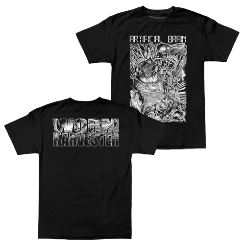 "Buy – Artificial Brain ""Worm Harvester"" Shirt – Band & Music Merch – Massacre Merch"