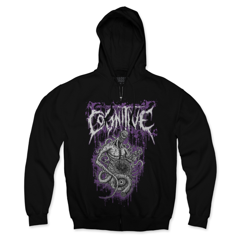 "Buy – Cognitive ""Purple Beast"" Zip-Up Hoodie – Band & Music Merch – Massacre Merch"