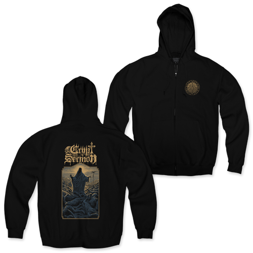 "Buy – Crypt Sermon ""Sigil"" Zip Hoodie – Band & Music Merch – Massacre Merch"