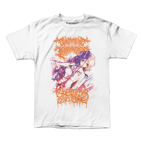"Dehumanizing Itatrain Worship / Cheerleader Concubine ""The Divine Union of Serrated Flesh"" Shirt"