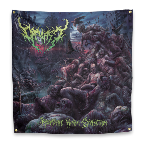 "Buy – Devast ""Apocalyptic Human Extinction"" Flag – Band & Music Merch – Massacre Merch"