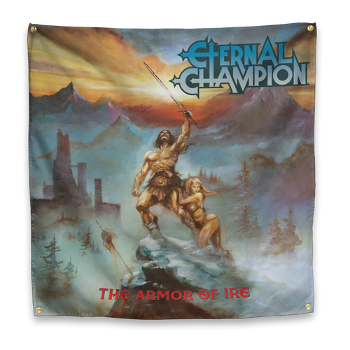 "Buy – Eternal Champion ""Armor"" Flag – Band & Music Merch – Massacre Merch"