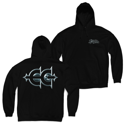 "Buy – Eternal Champion ""Metallic Logo"" Hoodie – Band & Music Merch – Massacre Merch"