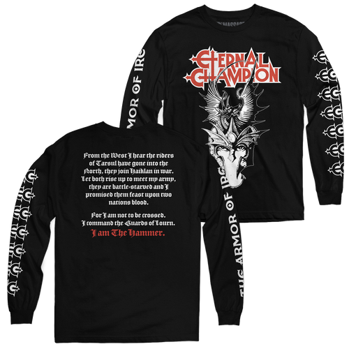 "Buy – Eternal Champion ""I Am The Hammer"" Long Sleeve – Band & Music Merch – Massacre Merch"