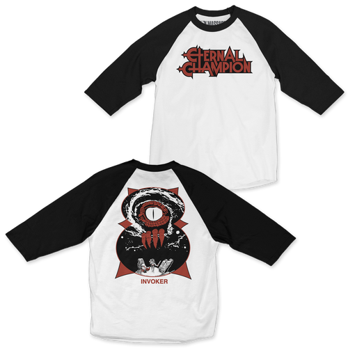 "Buy – Eternal Champion ""Invoker"" 3/4 Sleeve Raglan – Band & Music Merch – Massacre Merch"