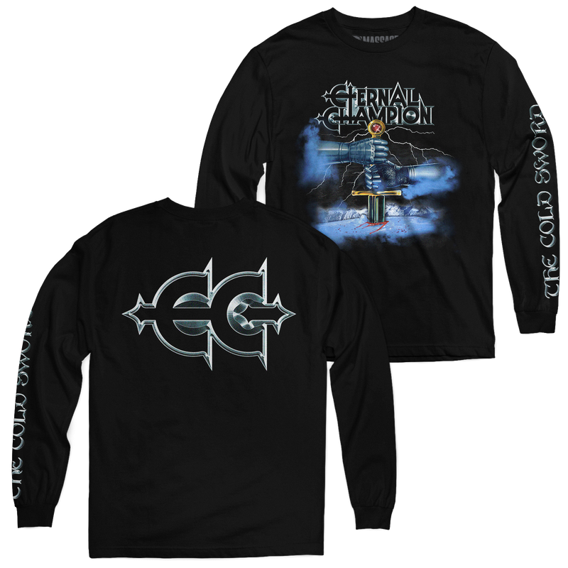 "Buy – Eternal Champion ""The Cold Sword"" Long Sleeve – Band & Music Merch – Massacre Merch"