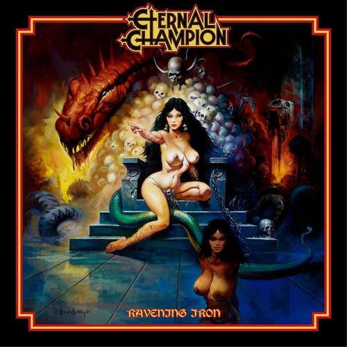 "Buy – Eternal Champion ""Ravening Iron"" 12"" – Band & Music Merch – Massacre Merch"