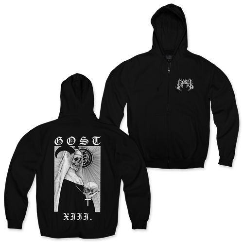 "Buy – Gost ""Nun"" Zip-Up Hoodie – Band & Music Merch – Massacre Merch"