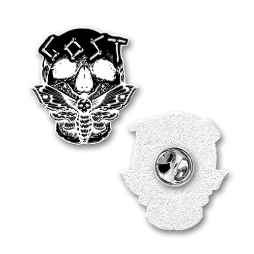 "Buy – Gost ""Skull Moth"" Pin – Band & Music Merch – Massacre Merch"