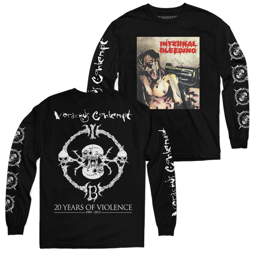"Buy – Internal Bleeding ""Voracious Contempt 20th Anniversary"" Long Sleeve – Band & Music Merch – Massacre Merch"