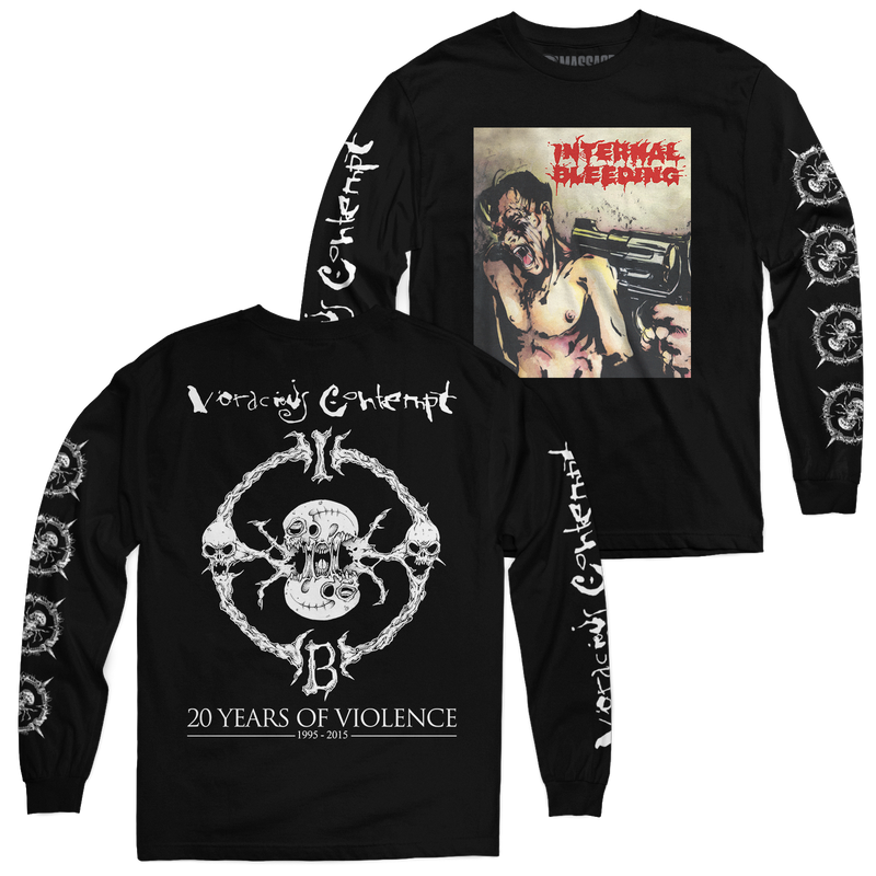 "Internal Bleeding ""Voracious Contempt 20th Anniversary"" Long Sleeve"