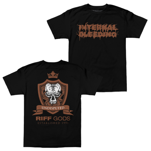 "Buy – Internal Bleeding ""Riff Gods"" Shirt – Band & Music Merch – Massacre Merch"