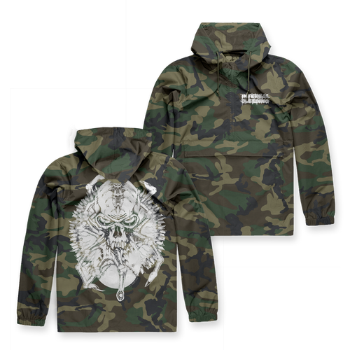 "Internal Bleeding ""Skull Spider"" Anorak Breaker"