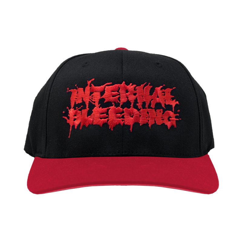 "Buy – Internal Bleeding ""Splatter Logo"" Hat – Band & Music Merch – Massacre Merch"