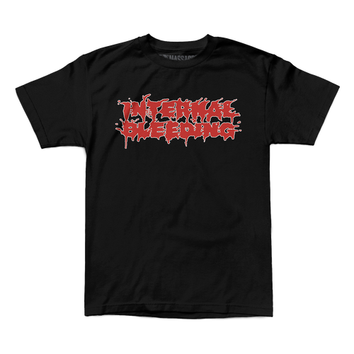 "Buy – Internal Bleeding ""Splatter Logo"" Shirt – Band & Music Merch – Massacre Merch"